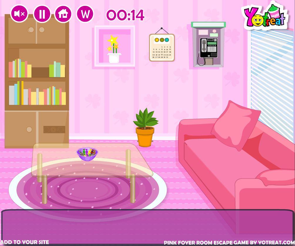 Foyer Room Escape : Flash игра pink foyer room escape