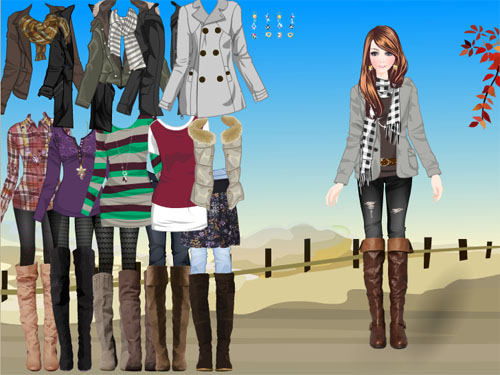 Игра одевалки модная одежда