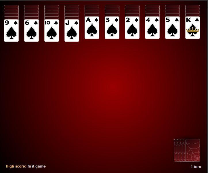 Обычный пасьянс паук 4 масти играться онлайн