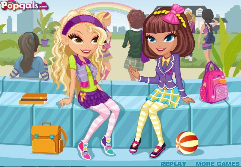 Игры для девочек картинки подружки