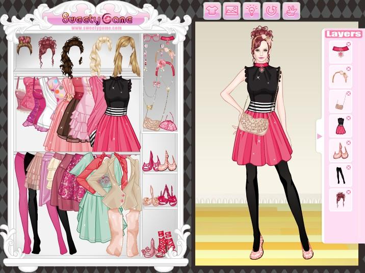 Одевалки модные для девочек играть