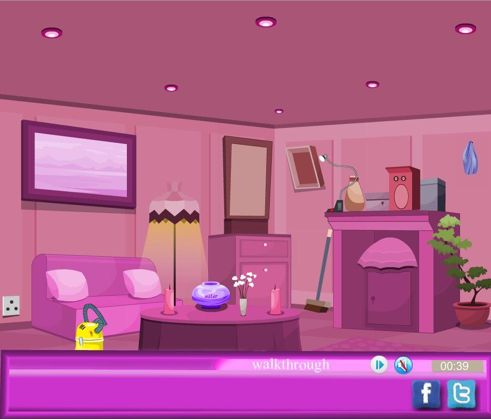 Pink Foyer Room Escape : Flash игра pink room escape