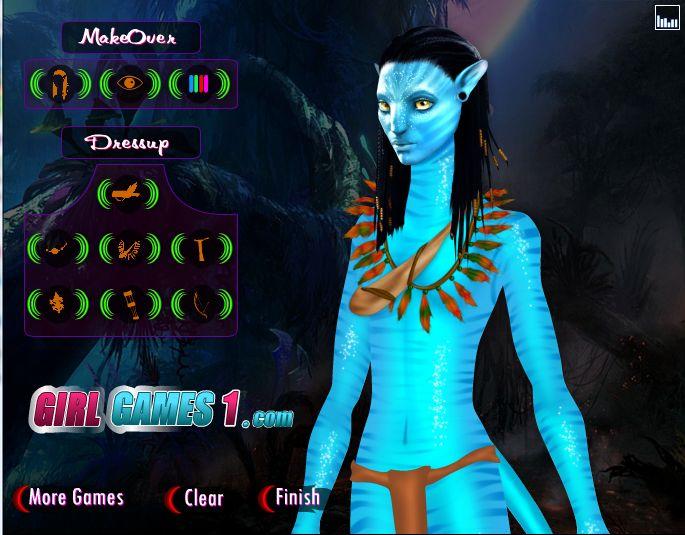 игры аватар синий: