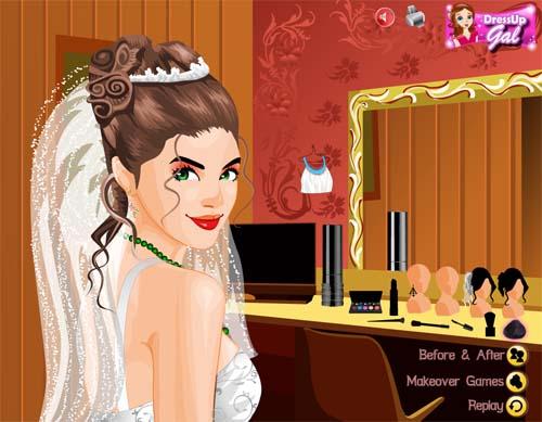 Игры для девочек одевалки и макияж и причёски и маникюр на свадьбу