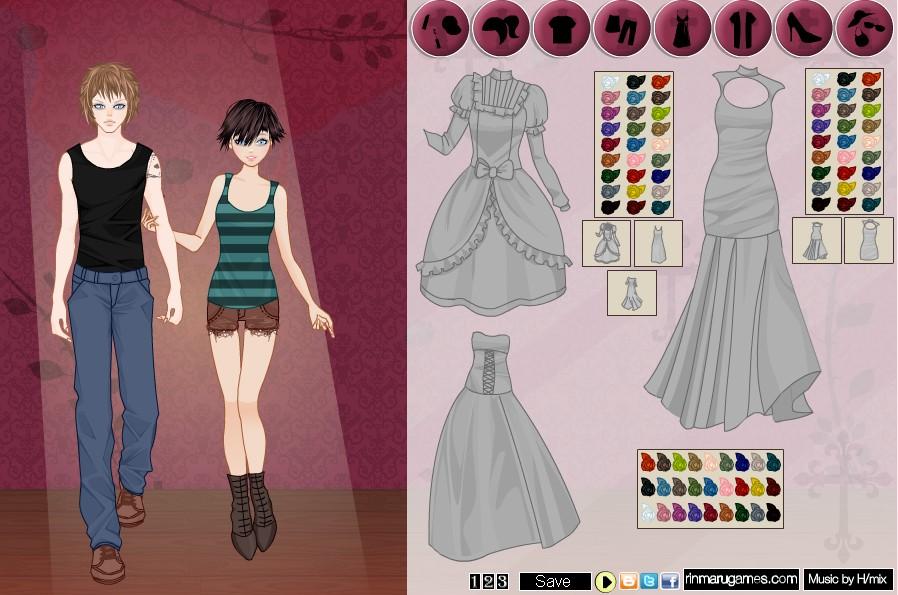 Игра Vampire Couple Dress Up Game  Онлайн-1192