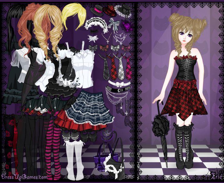 В новой игре одевалке Gothic Lolita Dress Up вам предстоит выступить в...