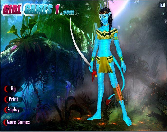 В новой одевалке Avatar Neytiri Dress Up вам предлагают одеть главную