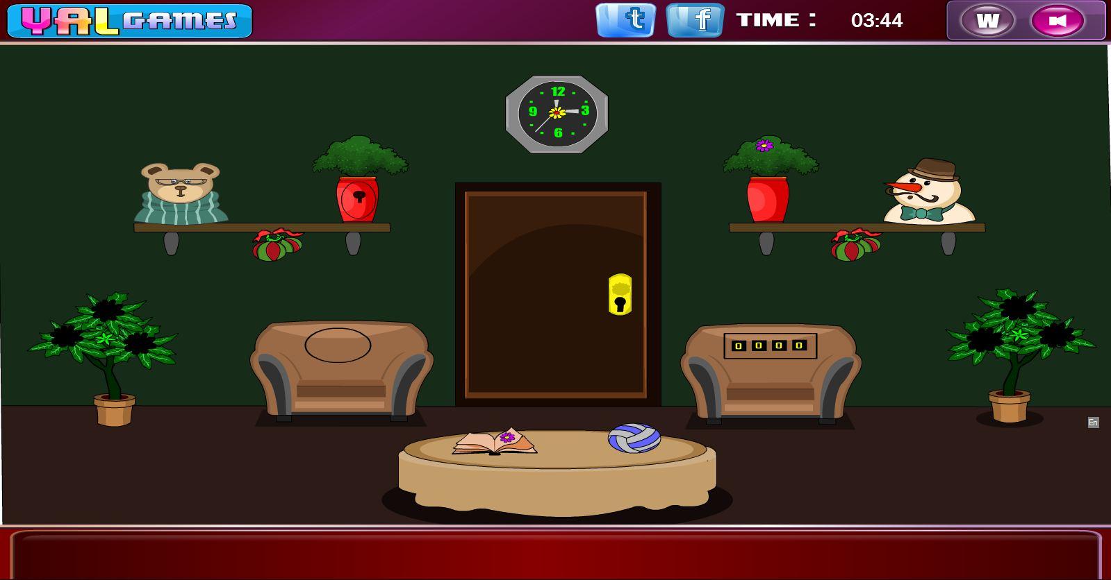 Flash christmas decoration room escape for Xmas room decor games