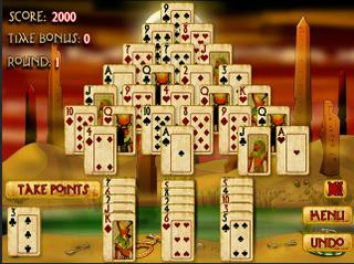 Игра Pyramid Solitaire : Mummy's Curse