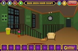Игра Dark Green Room Escape