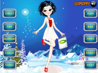 Игра Girl In The Snow