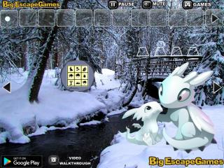 Игра Snow Dragon Forest Escape