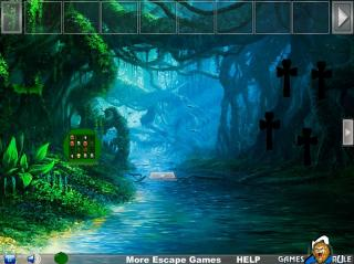 Игра Halloween Green Pumpkin Escape