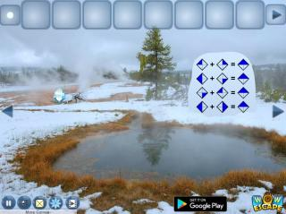 Игра Plane Crash In Snow Escape