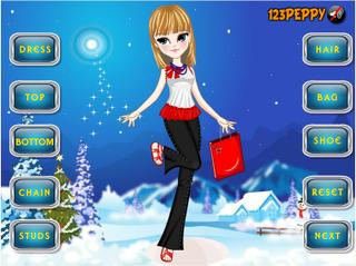 Игра Girl In The Snow фото