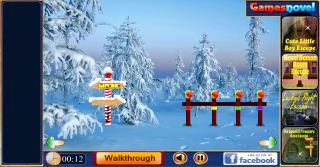 Игра Snowy Island Escape