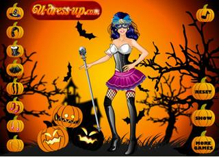 Игра Halloween Girl Dress Up