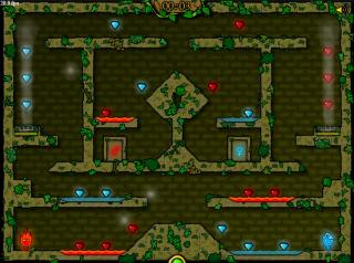 Игра Fireboy and Water Girl in The Forest Temple