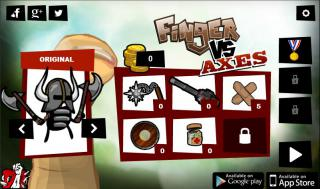 Игра Finger VS Axes фото