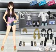 Studded Jean Shorts на FlashRoom