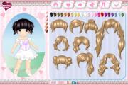 Cute chibi girl dress up game