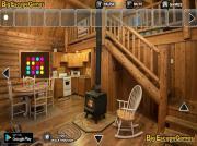 Побег из большого деревянного дома на FlashRoom