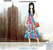 Blue Rose Print Dresses на FlashRoom