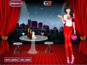 Девушка в красном на FlashRoom