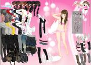 Pink feather dressup