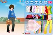 Cute anime girl dress up game   на FlashRoom