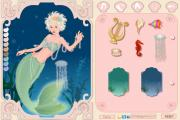 Beautiful mermaid dress up game на FlashRoom