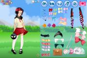 Cute anime girl dress up game
