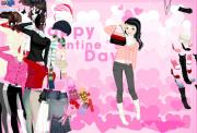 Valentine girl dressup на FlashRoom