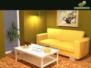 Yellow Living Room на FlashRoom