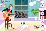 Romantic Guitar girl dress up game на FlashRoom